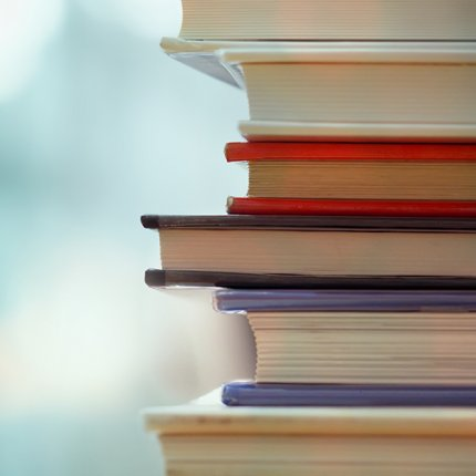 Stack of text books