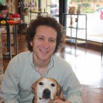 Photo of Gary Richter with a dog.