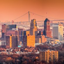 Newark New Jersey skyline