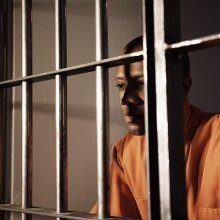 dignified black man in jail