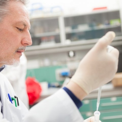 Image of a lab technician at work