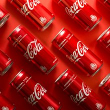 background image of coke cans