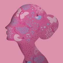 pink silhouette of woman